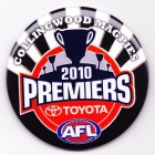 2010 Collingwood Magpies AFL Premiers SS Button Badge