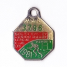 1981 South Sydney Juniors Leagues Club Member Badge