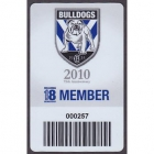 2010 Canterbury Bankstown Bulldogs NRL Member Card